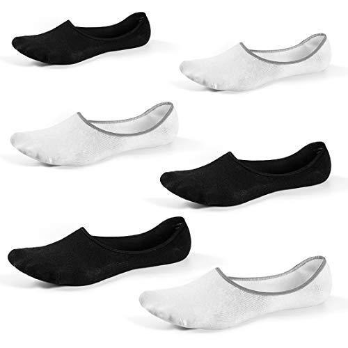 RedMaple 6 Paar Unsichtbare Sneaker Socken für Herren und Damen - tief geschnittene Anti-Rutsch Füßlinge Unsichtbare Freizeitsocken für Slipper Bootsschuhe Oxfords