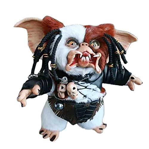GDYJP Decoraciones de Halloween Gremlins-Monster Resina Estatua Creativa Mogwai Muñeca Hecha A Mano Lindo Arte Miniatura Decoraciones de Halloween para Home Home (Color : B, Tamaño : 15cm)