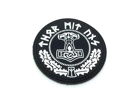 Patch Nation Thor's Hammer Mjolnir Wikinger Viking PVC Airsoft Paintball Klett Emblem Abzeichen