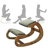 ZXZXZX Ergonomischer Kniestuhl Kniehocker Sitzhocker für Zuhause Büro Bürohocker Aus Holz Körperhaltung Verbessern Schreibtische Kniender Hocker Bürohocker 120kg Tragfähigkeit