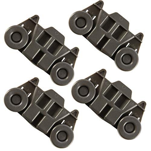 4 Pack W10195416 Dishwasher wheels lower rack for kitchenaid,W/ 1.59 In Diameter Wheels Fit kitchen aid kenmore maytag whirlpool Dishwasher Rack Parts w10195420 mdb4949sdm2 wdt780saem1 w10311123b 665