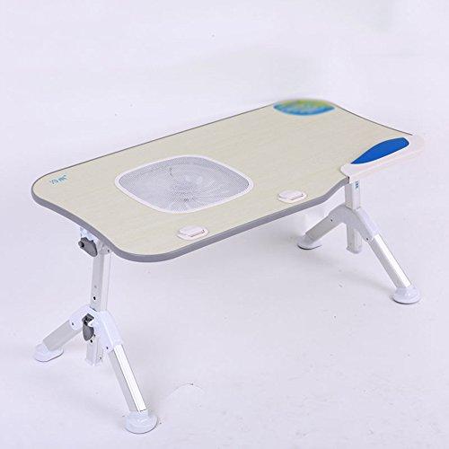 XIA Ordinateur portable Table Lit Petite Table Pliable Collège Étudiants Dortoir Paresseux Table Protection de L'environnement Portable 600 * 330mm Gris Vert (Couleur : Gray -2)