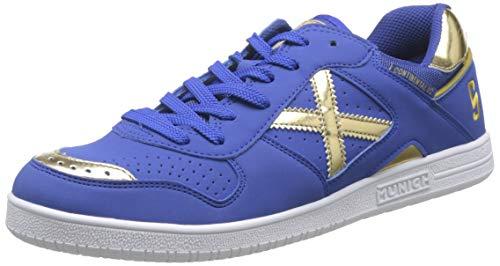 Munich Continental V2 05, Zapatillas de Deporte para Hombre, Azul (Azul/Dorado 005), 42 EU