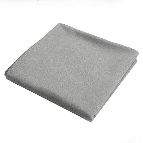 ILMF Rectangular Mantel, Anti-Sucio Lavable Mantel para Mesa Color Sólido Lino Exterior Cubierta para Mesa Adecuado para Sala de Reuniones Banquete Fiesta-gris-130X260cm(51X102pulgada)