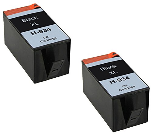 Printing Pleasure 2 Tintenpatronen kompatibel zu HP 934XL für HP Officejet Pro 6230 6812 6815 6820 6825 6830 6835 - Schwarz, hohe Kapazität