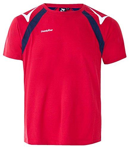 Twentyfour Norge t-Shirt de Sport pour Homme FR:54/56 Rouge - Rouge