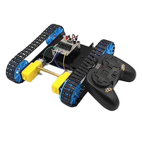 B Blesiya Chasis de Tanque Rastreador de Pista Aluminio con Mando a Distancia para Robot de Coche Inteligente Bricolaje