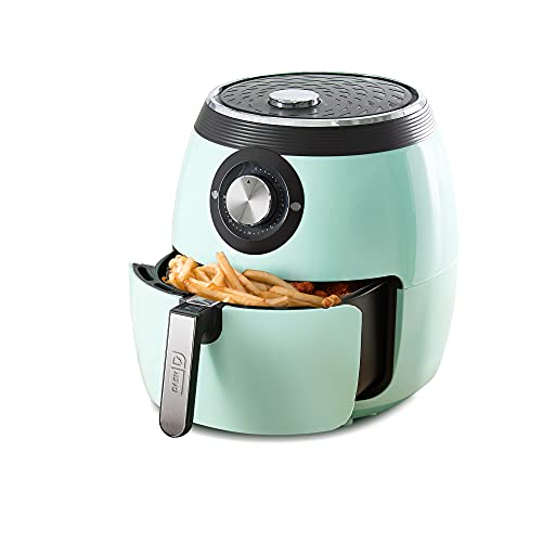 Dash Deluxe Electric Air Fryer + Oven Cooker with Temperature Control, Non-stick Fry Basket, Recipe...