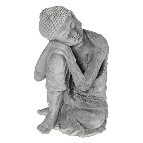 HOGAR Y MAS Buda Decoracion HAMINS Sentado Cemento 35CM