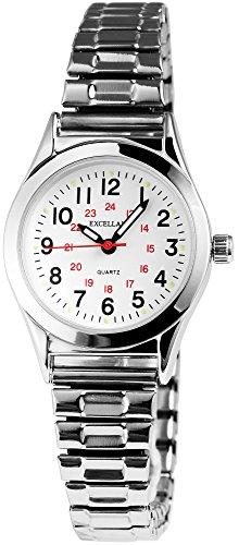 Reloj con correa de metal, analógico, correa de 14mm de ancho.