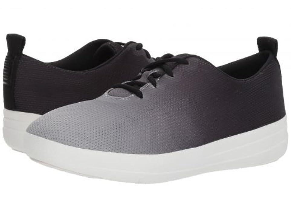 アボート一時解雇するリラックスしたFitFlop(フィットフロップ) レディース 女性用 シューズ 靴 スニーカー 運動靴 Neoflex Slip-On Sneakers - Black/Soft Grey [並行輸入品]