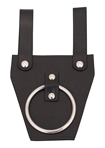 Battle-Merchant Gürtelhalter für Axt aus schwarzem Leder - Axthalter