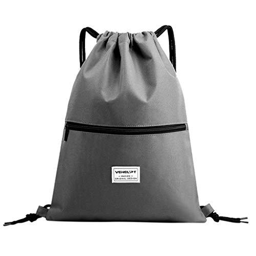 Masoness 💎💎 Sport Rucksack, Mode unisex wasserdicht Reißverschluss gebunden Seil Reise Sport Rucksack Tasche