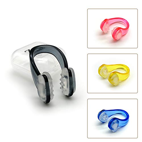 Zooshine Set of 4 Waterproof Anti-Slip Swimming Nose Clips Nose Plugs...
