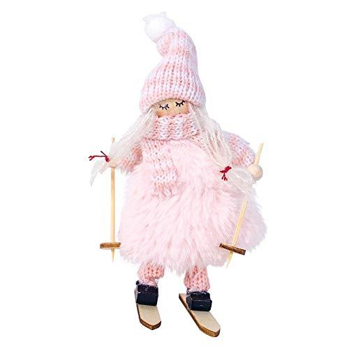 Eternitry 3 muñecas de felpa de Navidad | Ins estilo tejer lana felpa esquí niña muñecas | Navidad colgante muñeca adornos decoraciones chica colgantes decoración hogar conveniente