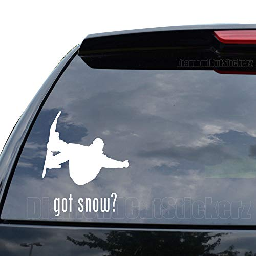 DiamondCutStickerz GOT Snow Snowboarding Snowboard Decal Sticker Car Truck Motorcycle Window Ipad Laptop Wall Decor - Size (05 inch / 13 cm Tall) - Color (Gloss White)