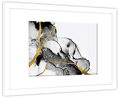GaviaStore dipinto di altissima qualità - con cornice 70x50 cm - stampe quadri quadr poster fotografic foto arred casa art print home decor soggiorno sala paret dipint (Astratto 9B)