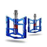 ROCKBROS Pedales de Bicicleta 4 Rodamientos de Aleación de Aluminio Plataforma CNC Ligero Antideslizante para MTB Bici de Carretera Bici Plegable 9/16'