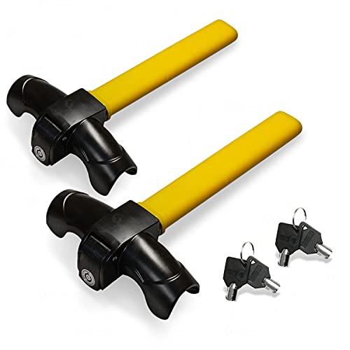 Zone Tech 2-Pack Car Steering Wheel Lock - Premium Quality Strong Durable Heavy Duty Anti-Theft Steering Wheel Lock