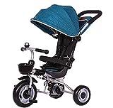 LBBGM Tricycle pour Enfants 3 en 1 avec auvent de vélo de Tricycle réglable pour Enfants adapté aux Enfants de 12 Mois à 5 Ans Poids Maximum 25 kg