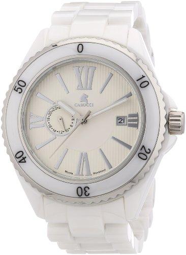 Carucci Watches Herren-Armbanduhr XL Analog Automatik Keramik CA7112WH