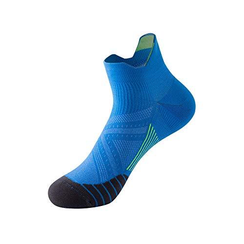 LifeWheel Low-Cut Sports Laufsocken für Herren und Damen Knöchel Kompression Mehrzweck Feuchtigkeit Wicking Sportsocken, Blau (1 Paar)