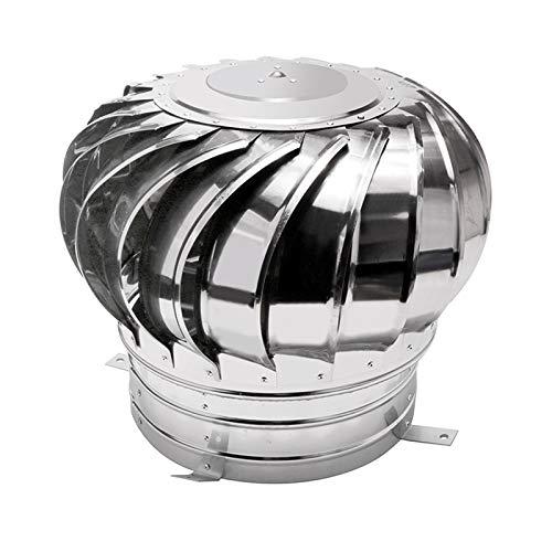 Kaminaufsatz,Säurebeständigen Edelstahl Drehbarer Kugelaufsatz Schornsteinaufsatz Lüftungsaufsatz Ofen,Silber,200mm