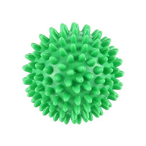 Bola de masaje de punta de PVC de alta densidad Dolor de pie y tratamiento para aliviar la fascitis plantar Bola de erizo Masaje Bola de acupresión Verde Jasnyfall