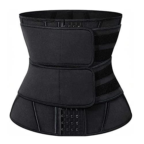 MVNZXL Cintura Entrenador, Cinturón de Sudor Mujer para Gimnasio, Cinturón Lumbar Abdominal de Ayuda para Sudar y Hacer Deporte, para Deporte Fitness(Color:Black,Size:X-Large)