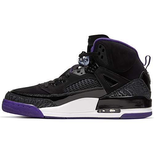 Nike Herren Jordan Spizike Basketballschuhe, Mehrfarbig (Black/Court Purple-Anthracite-White 051), 44.5 EU