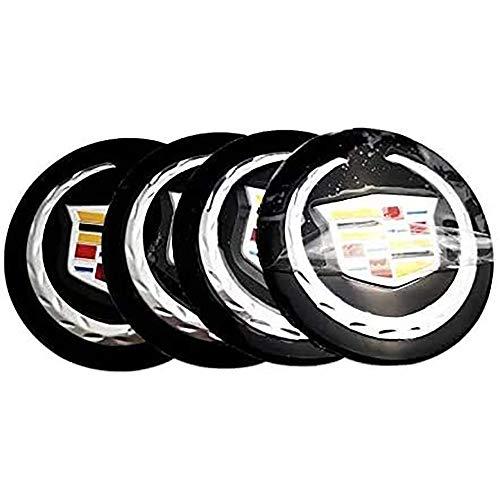 4 Stück 56mm,Radnabenkappen Alufelgen Nabendeckel Radnabenabdeckungen Abzeichen Emblemabdeckungen Aufkleber Autozubehör, für Cadillac ATS CTS DTS STS SLS SLR XLR BLS CT6