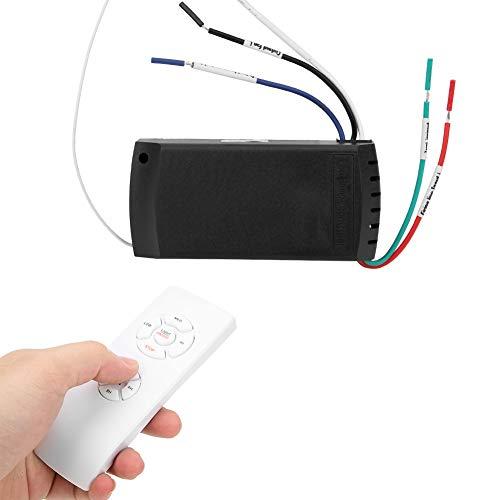 Regalo de Abril Control Remoto de temporización Inteligente, Control Remoto, 85 V-260 V 4,5 x 2 x 1 pulg. para Ventiladores de Techo