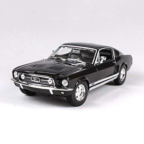 Haixin 1967 Ford Mustang GTA modèle de Voiture en Alliage simulé, Noir et Vert, 1:18