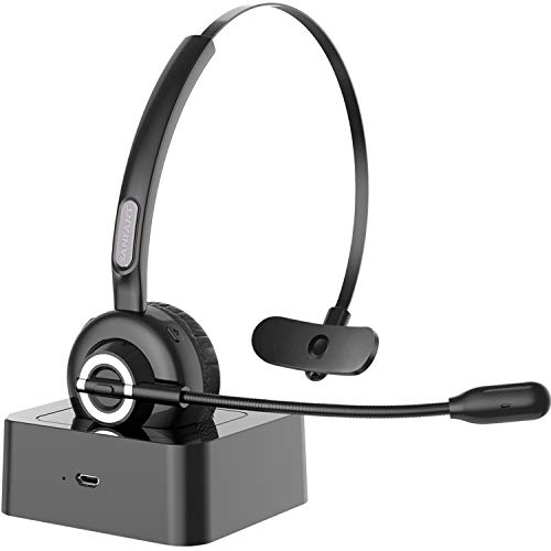 Bluetooth Headset with Microphone,Sanfant V5.0 Trucker Bluetooth Headset...