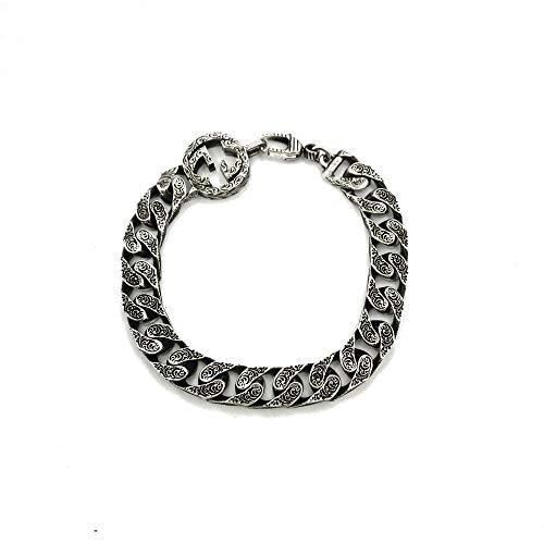 Gucci Pulsera de cadena G entrelazada en plata YBA454285001