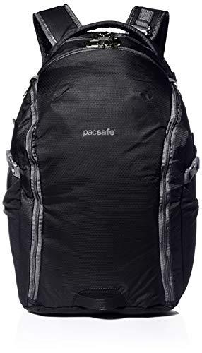 Pacsafe Venturesafe G3 32 Liter grosser Rucksack, Anti-Diebstahl Technik, 100D Nylon Diamond Ripstop, Daypack, Wanderrucksack, Reisegepäck mit Sicherheitstechnologie, 32 Liter, Schwarz/Black