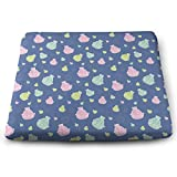 BriaPa Rowing Boats Canoeing Colorful Best Gift Memory Cotton Seat Cushion Desk Chair Cushion As Sciatica Pillow for Sitting Car Seat Cushion Donut Pillow for Tailbone Pain Relief-108