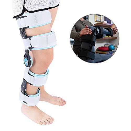 Verstellbare Knieorthese mit ROM Adjustable Kniestütze, ROM Knieschoner Ideal für ACL Ligament Sportverletzungen, leichte Osteoarthritis, Meniskusrissen, Bandverletzungen Patellakniestütze zur Stabi