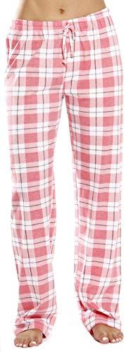 Just Love 100 % Baumwoll-Jersey, Damen-Pyjamahose, Nachtwäsche - Pink - Small