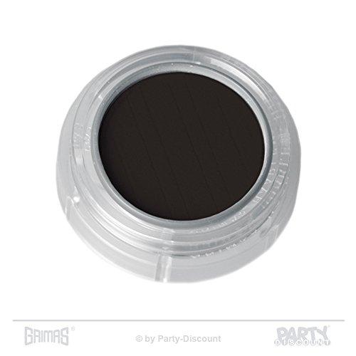 Grimas Lidschatten/Rouge, Döschen 2g, Farbe 103 Dunkelgrau, Profi-Make-Up, hochpigmentiert