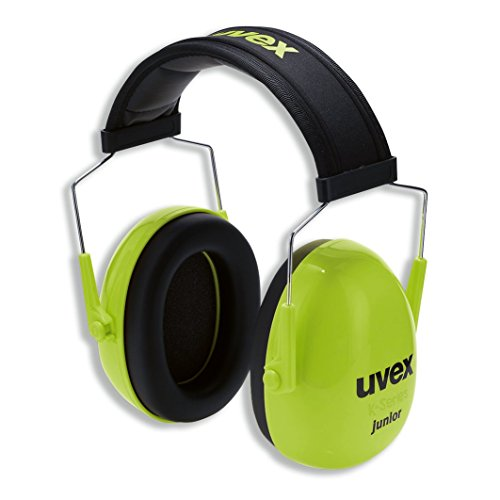 Uvex Kinder Gehörschützer 29dB | Kompakter, Faltbarer und Verstellbarer Kapselgehörschutz | Verstellbarer Ohrschützer | Gewicht: 160g | Farbe: Lime