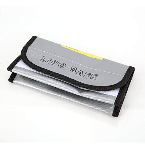 KoelrMsd Bolsa de batería LiPo Retardante de Fuego Bolsa de Caja de Carga de protección Segura LiPo Bolsa de Saco Incombustible a Prueba de explosiones para RC Modelo Drone Car