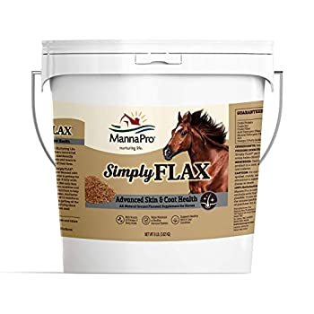 Manna Pro Simply Flax for Horses   Omega-3 Fatty Acids from Flaxseed   8 Pounds