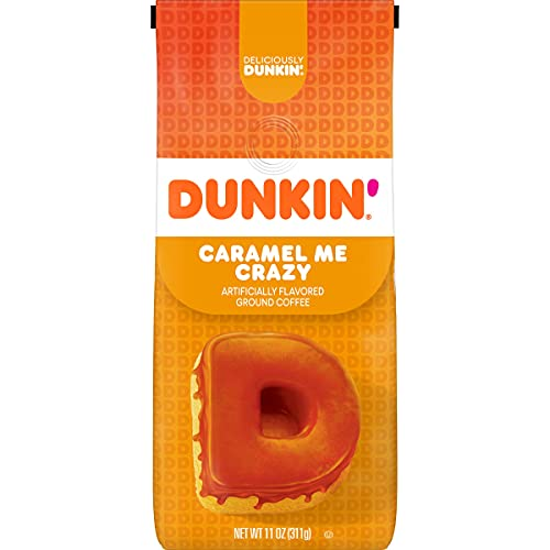Dunkin' Caramel Me Crazy Ground Coffee, 11 Ounces (Packaging May Vary)