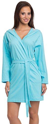 L&L Bata para Mujer Kim Short (Turquesa/Melange, XL