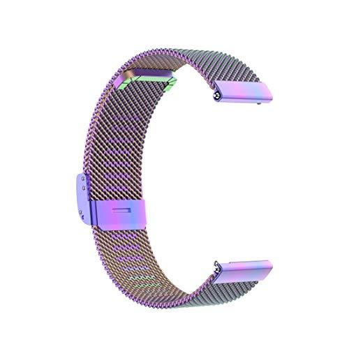 PANTEHUI For Huawei GT / GT2 46mm / 46mm Galaxy Reloj/Fossil Gen 5 Carlyle de 46 mm de Acero Inoxidable de Malla de Reloj de Pulsera Correa 22MM (Negro) (Color : Colourful)