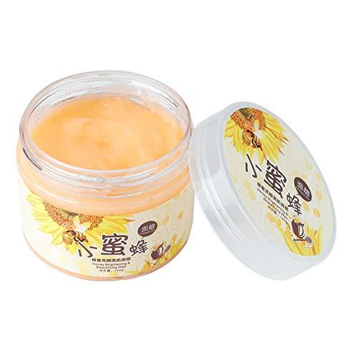 Mascarilla facial exfoliante hidratante de leche y miel, 140 ml Quitar la piel muerta Mascarilla hidratante Blackhead Shrink Pore Cuidado de la piel Mascarilla para blanquear