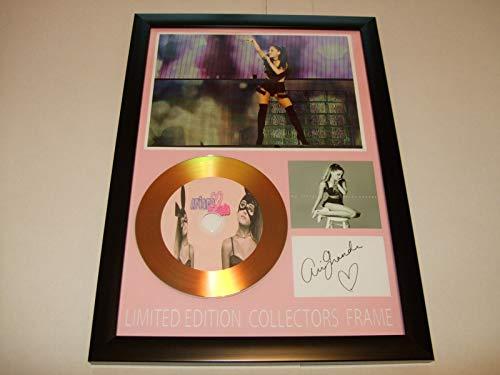 Ariana Grande signierte Goldscheibe