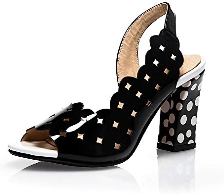 MENGLTX 2019 Plus Gre 32-43 Sommer Peep Toe Party Frauen Schuhe Frau High Heels Sommer Hohl Sandalen Frau Pumps