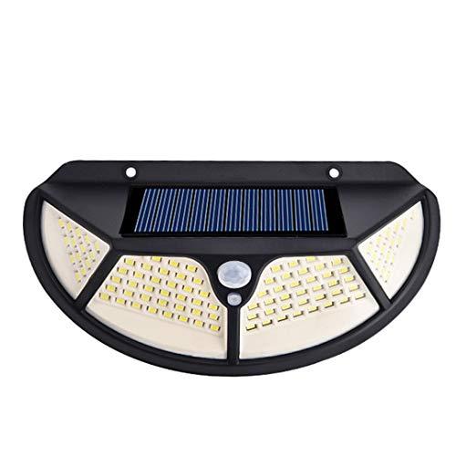 DogensHonz Lámpara de Pared Solar Impermeable al Aire Libre LED PIR Sensor de Movimiento Lámpara de Pared de luz Solar 102 LED